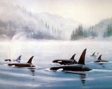 Orcas 1985 Limited Edition Print - Robert Wyland