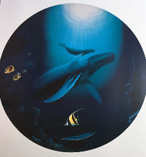 Innocent Age / Dolphin Serenity Diptych 1992 Limited Edition Print by Robert Wyland