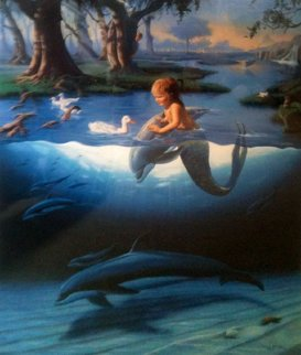 Littlest Mermaid 1994 Limited Edition Print by Robert Wyland