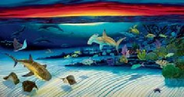 Sea Life Below  Limited Edition Print by Robert Wyland