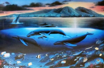 Maui Dawn AP 2002 Limited Edition Print - Robert Wyland