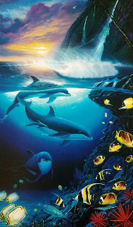 Dolphin Dawn 2000 Limited Edition Print by Robert Wyland