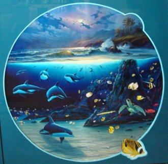 Moonlit Waters 1999 Koa Frame Limited Edition Print - Robert Wyland