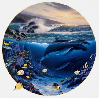 Whale Waters AP 1992 Limited Edition Print by Robert Wyland