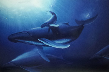 Whale Protection  1997 Super Huge Limited Edition Print - Robert Wyland
