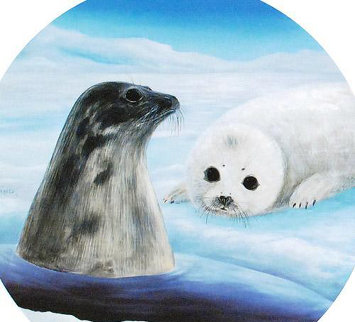 Harp Seals 1990 Limited Edition Print by Robert Wyland