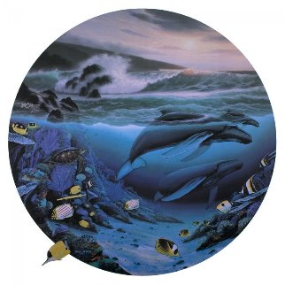 Whale Waters 1992 Limited Edition Print by Robert Wyland