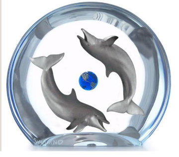 Dolphin Planet Acrylic Sculpture AP Sculpture - Robert Wyland