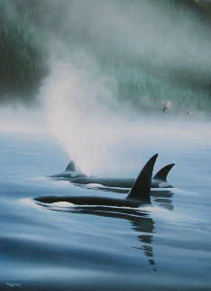 Northern Pacific Orcas, Suite of 3 1985 Limited Edition Print - Robert Wyland