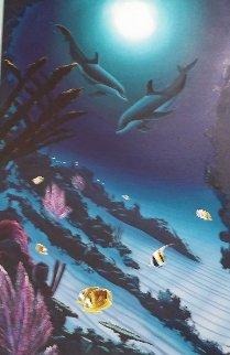 A Moon Light Dance 2003 44x32 Huge Original Painting - Robert Wyland