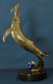 Whale  (First Breath) Bronze Sculpture 2010 22 in  Sculpture - Douglas Wylie