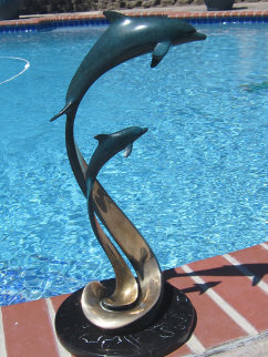 Ensemble Bronze Sculpture 1995 22 in Sculpture by Douglas Wylie