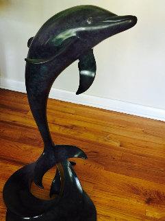 Bon Ami Bronze Sculpture 1994 38 in Sculpture - Douglas Wylie