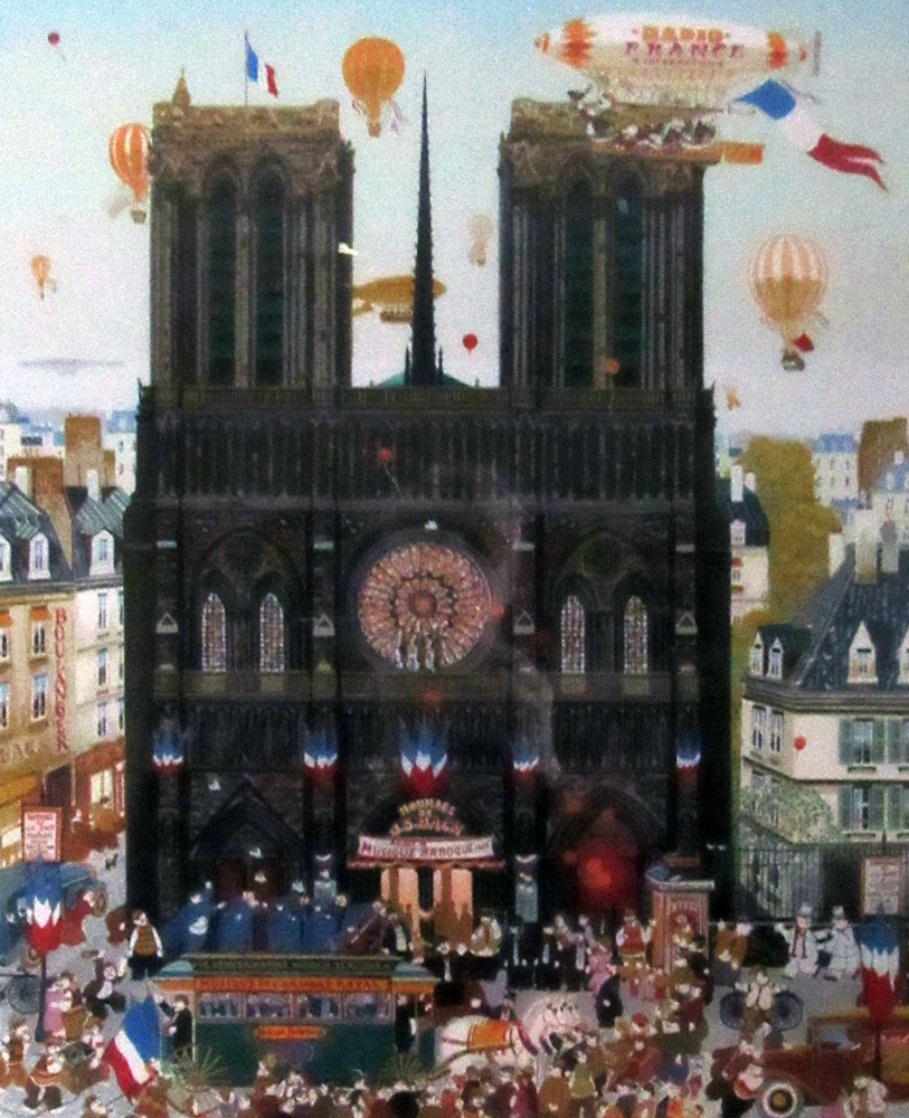 Notre Dame 1981 Limited Edition Print by Hiro Yamagata
