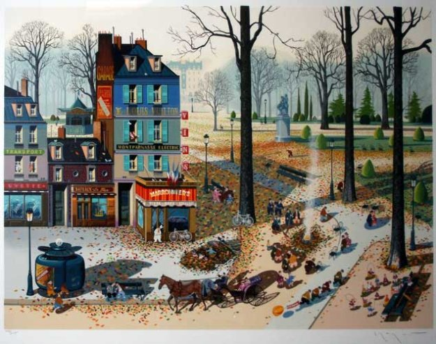 Fallen Leaves 1983 Limited Edition Print by Hiro Yamagata