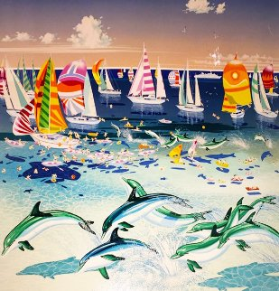 Dolphins 1984 Limited Edition Print by Hiro Yamagata