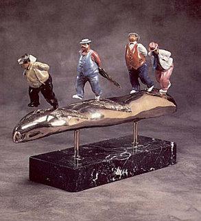 Club Pensee Bronze Sculpture 1990 20 in Sculpture - Hiro Yamagata