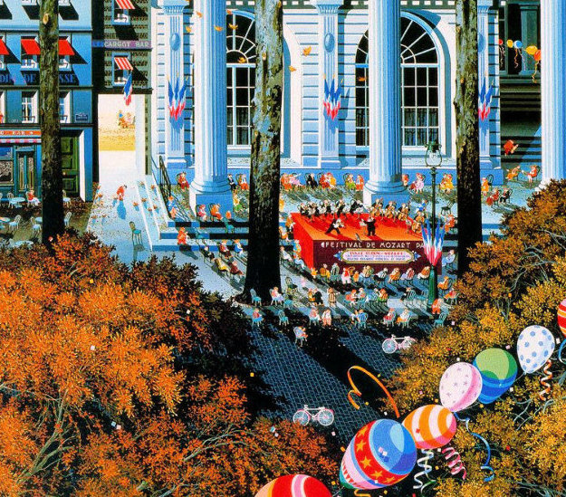 Concert in the City AP 1985 Limited Edition Print by Hiro Yamagata