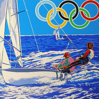 Yachting (From the Centennial Olympic Games) 1996 Limited Edition Print by Hiro Yamagata