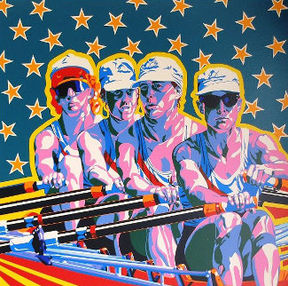 Rowing (From The Centennial Olympic Games) 1996 Limited Edition Print - Hiro Yamagata