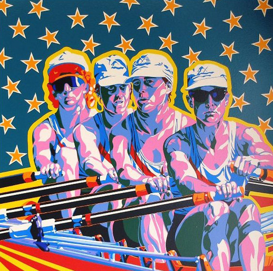 Rowing (From The Centennial Olympic Games) 1996 Limited Edition Print by Hiro Yamagata