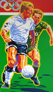Football   (From The Centennial Olympic Games)  1996 Soccer Limited Edition Print by Hiro Yamagata