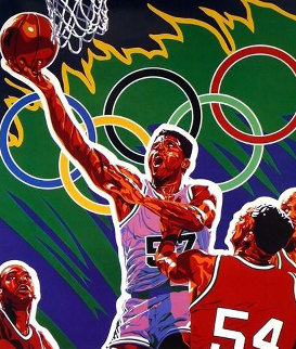 Basketball (From the Centennial Olympic Games) 1996 Limited Edition Print by Hiro Yamagata