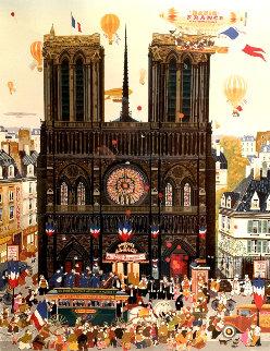 Notre Dame 1980 Limited Edition Print - Hiro Yamagata