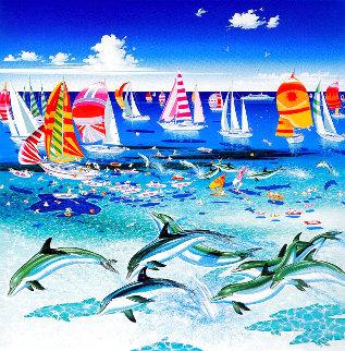 Dolphins 1985 Limited Edition Print - Hiro Yamagata