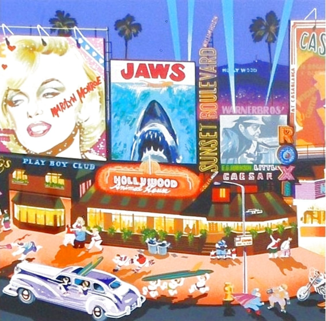 Los Angeles From the  Four Cities Suite 1985 Limited Edition Print by Hiro Yamagata