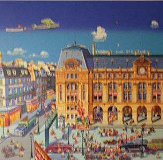 Gare St. Lazare, Paris 1986 Limited Edition Print by Hiro Yamagata