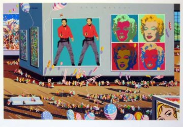 Warhol Museum / Summer Olympics Museum set of 2 1988 Limited Edition Print - Hiro Yamagata