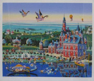 Chateau Rouge 1985 Limited Edition Print by Hiro Yamagata