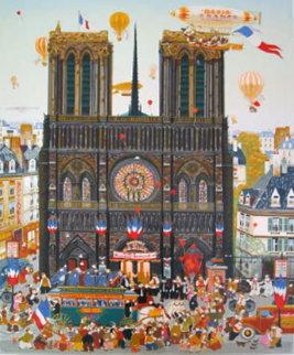 Notre Dame 1980 Limited Edition Print by Hiro Yamagata