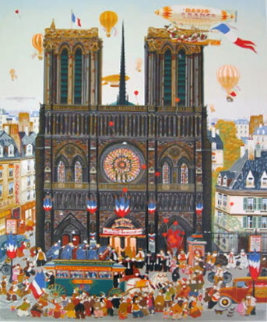 Notre Dame 1980 Limited Edition Print by Hiro Yamagata