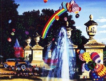 Courtyard Fountain 1990 Limited Edition Print - Hiro Yamagata