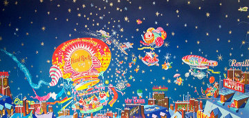 Snowy Night Swing 1990 Limited Edition Print by Hiro Yamagata