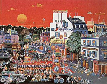 Circus in the Square 1987 Limited Edition Print by Hiro Yamagata