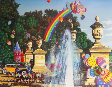 Courtyard Fountain 1990 Limited Edition Print by Hiro Yamagata