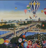 Balloon Race 1990 Limited Edition Print by Hiro Yamagata - 0