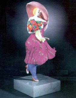 Spring Breeze Bronze Sculpture 1988 Sculpture by Hiro Yamagata