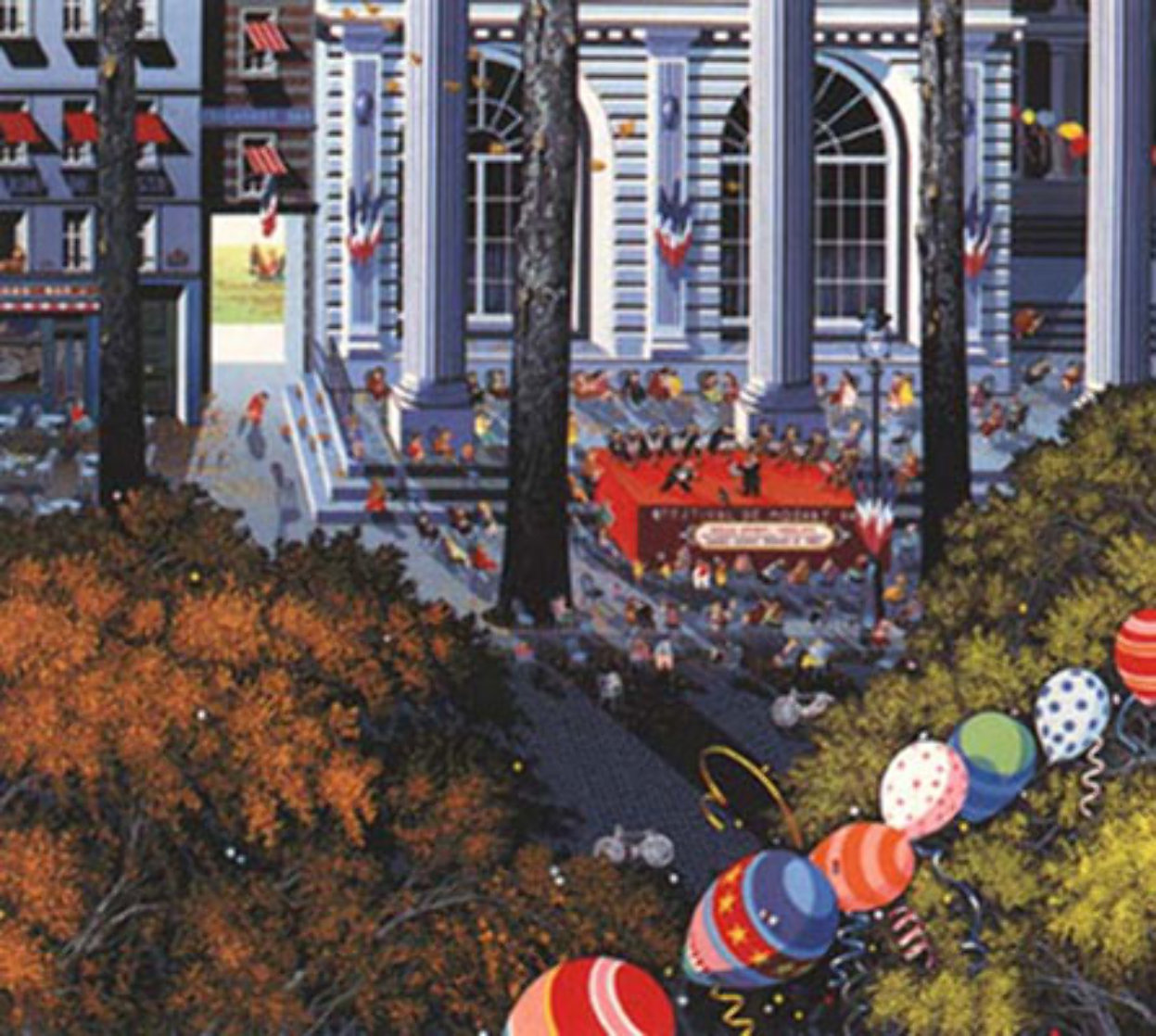 Concert in the City 1985 Limited Edition Print by Hiro Yamagata
