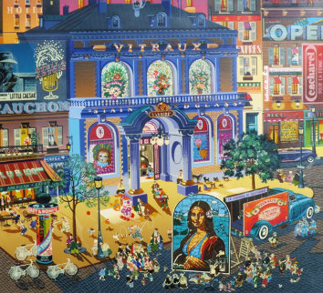 Stained Glass Studio 1985 Limited Edition Print by Hiro Yamagata