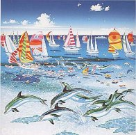 Dolphins 1984 Limited Edition Print by Hiro Yamagata - 0