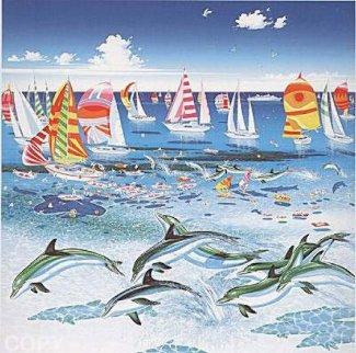Dolphins 1984 Limited Edition Print - Hiro Yamagata