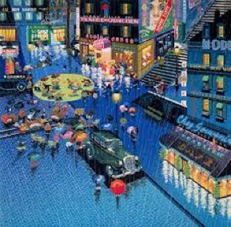 Robbers I and Robbers II 1980 2 Prints Limited Edition Print by Hiro Yamagata