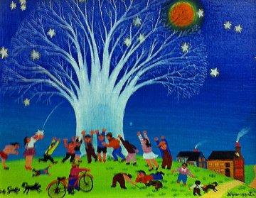Starry Night 1973 Original Painting - Hiro Yamagata