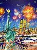 Happy Birthday Liberty U.S.A. Original 30x40 Original Painting by Hiro Yamagata - 0