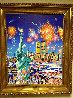 Happy Birthday Liberty U.S.A. Original 30x40 Original Painting by Hiro Yamagata - 1