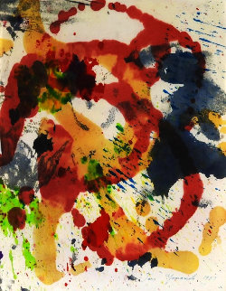 Expressionistic Abstraction 1957 30x23 Works on Paper (not prints) by Taro Yamamoto